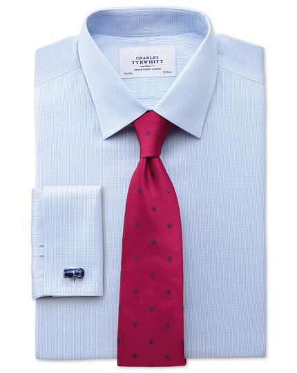 Dark pink silk Fleur-de-Lys classic tie