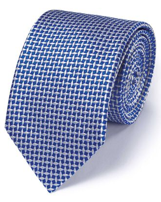 Royal silk diamond lattice classic tie