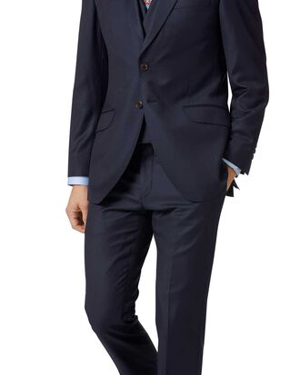 Navy slim fit Italian twill luxury suit