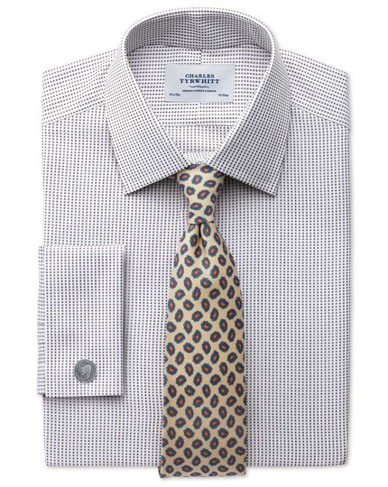 Classic fit Pima cotton double-faced brown shirt