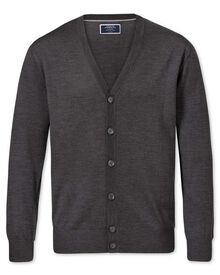 Charcoal merino wool cardigan