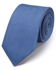 Sky classic herringbone plain tie
