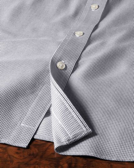 Extra slim fit cutaway collar non-iron grey shirt