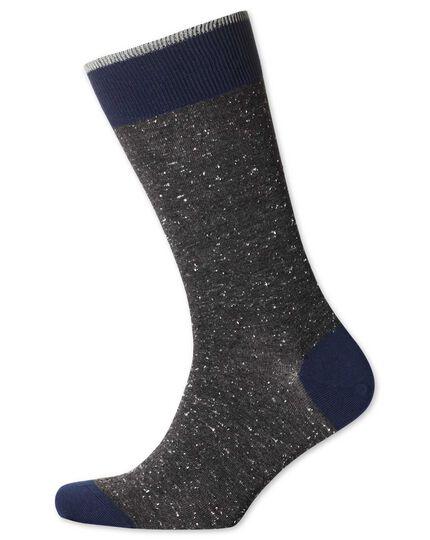 Grey Donegal socks