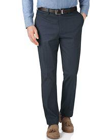 Slim Fit Hose in Marineblau und Blau mit Hahnentritt-Muster