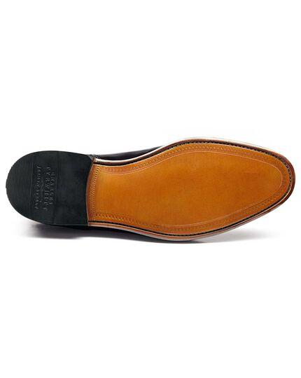 Black Parker toe cap brogue Oxford shoes