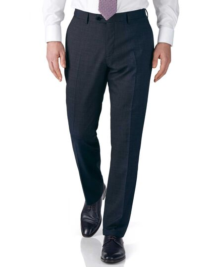 Slim Fit Businessanzug Hose aus Fil-à-Fil in blau