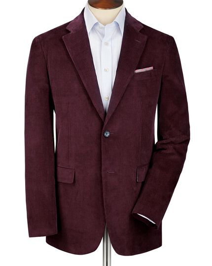 Grape slim fit cord unstructured jacket