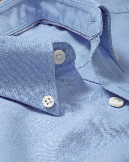 Slim fit sky blue chambray shirt
