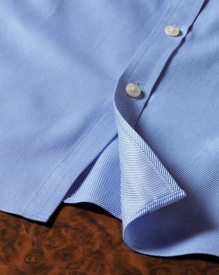 Slim fit Egyptian cotton cavalry twill blue shirt