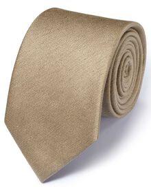 Stone silk mix classic plain tie