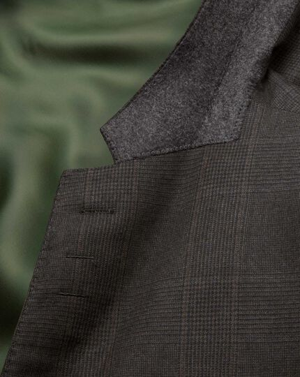 Dark grey classic fit saxony business suit jacket