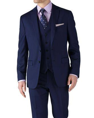 Classic Fit Business Anzug Sakko aus Twill in Königsblau