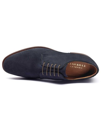 Navy Padstow suede Derby shoes