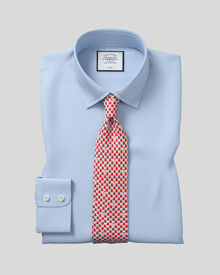 Slim fit non-iron twill sky shirt