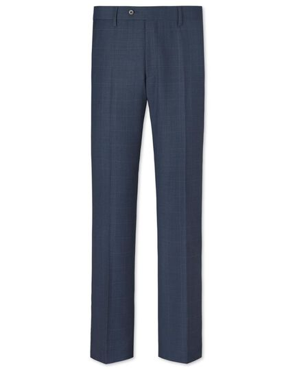 Airforce slim fit sharkskin business suit trousers