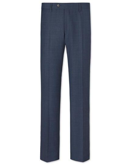 Airforce slim fit windowpane sharkskin business suit pants