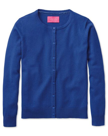 Royal blue merino cashmere cardigan