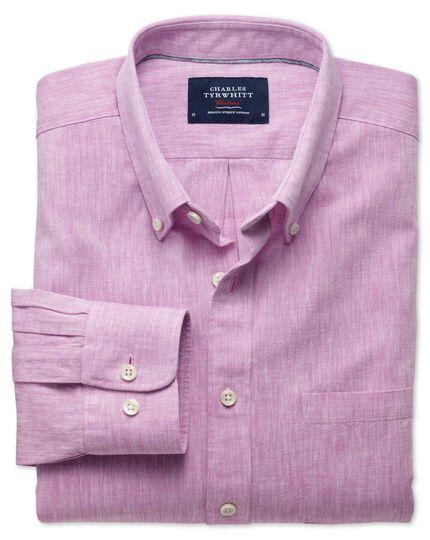 Slim fit pink chambray shirt