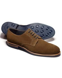 Tan Rivington suede Derby shoes
