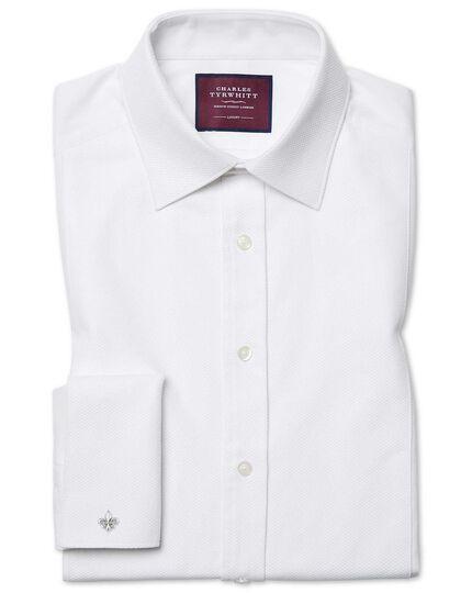 Extra Slim Fit Luxus-Smokinghemd aus Marcella in weiß
