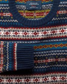Multi fairisle crew neck sweater