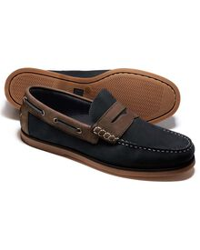Navy Oakham boat shoes