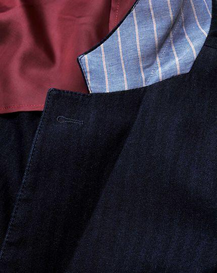 Classic fit indigo herringbone jacket