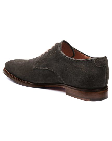 Grey Padstow suede Derby shoes