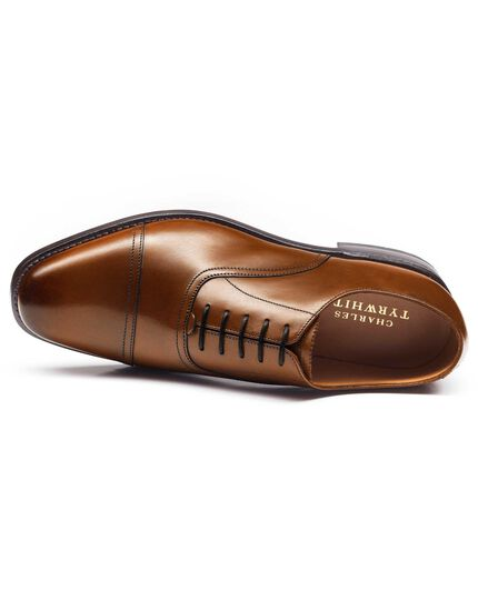 Tan Bennett toe cap Oxford shoes