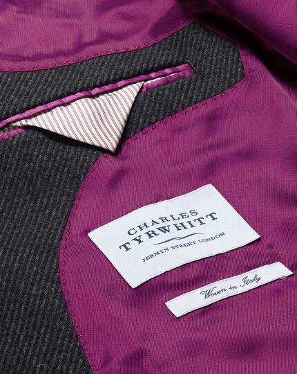 Slim fit Charcoal wool Epsom overcoat