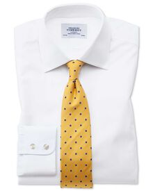 Slim fit Oxford white shirt