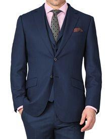 Blue slim fit saxony business suit jacket