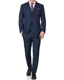 Blue slim fit saxony business suit