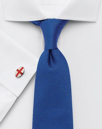 Slim fit square weave cutaway white shirt
