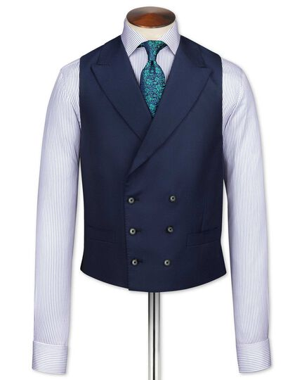 Navy British Panama luxury suit vest