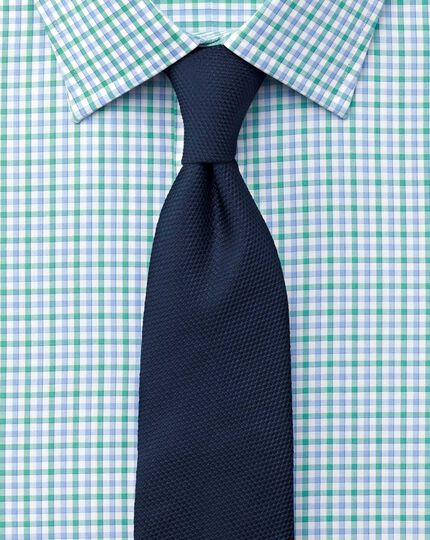Classic fit Egyptian cotton Jermyn St check green and blue shirt