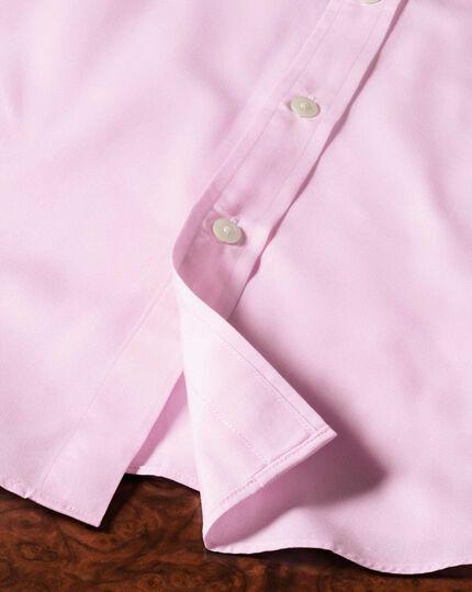 Extra Slim Fit Hemd aus Fil-à-Fil in Rosa