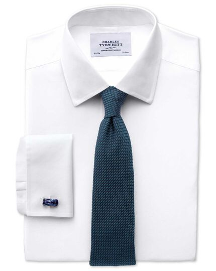 Teal silk plain grenadine luxury tie