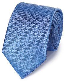 Sky silk arrow semi plain classic tie