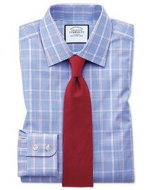 Classic Fit Hemd in Blau mit Prince-of-Wales-Karos