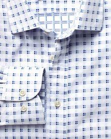 Classic Fit Hemd aus beidseitigem Gewebe in weiß und blau