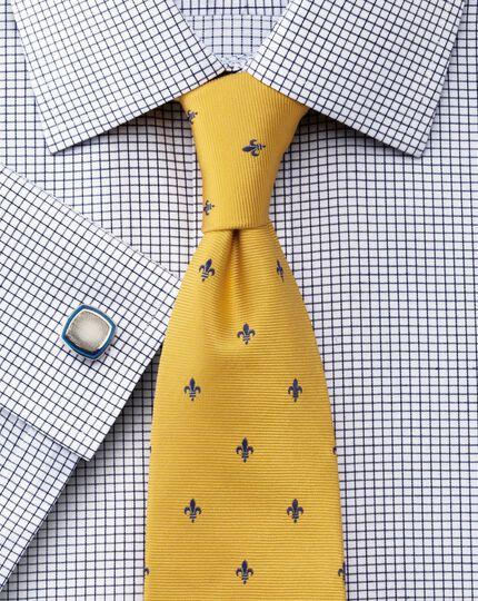 Slim fit non-iron Windsor check navy shirt