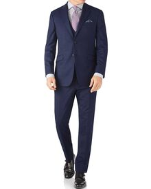 Indigo slim fit end-on-end business suit