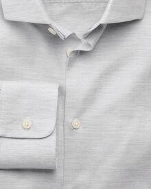 Slim fit business casual melange grey shirt