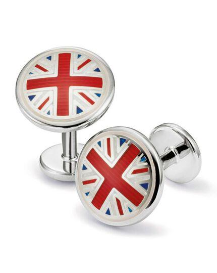 Union Jack enamel cufflinks