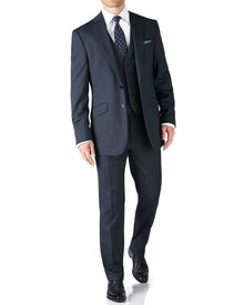 Airforce blue classic fit end-on-end business suit