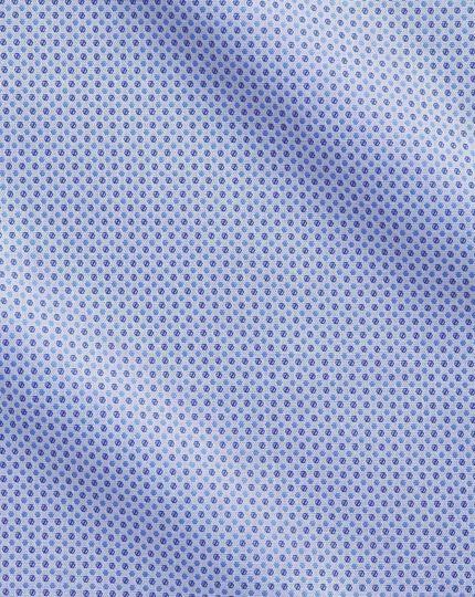 Classic Fit Hemd aus ägyptischer Baumwolle in Himmelblau mit Bunten Tupfen