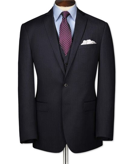 Slim Fit Businessanzug Sakko aus Twill in blau