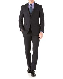 Slim Fit Business Anzug aus Hairline in Anthrazit